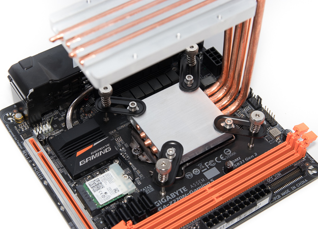 streacom db4 build cpu cooler installed