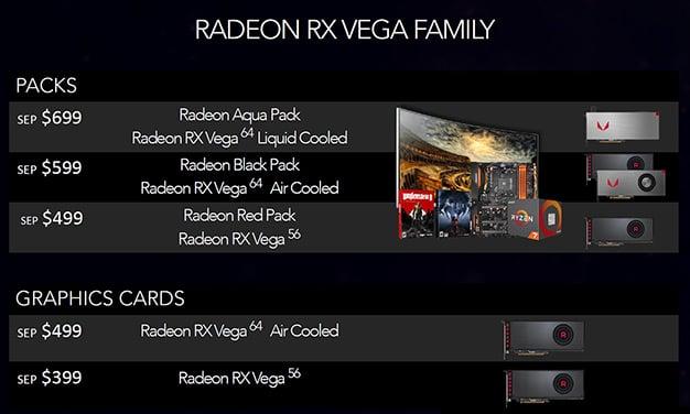 radeon vega bundles pricing