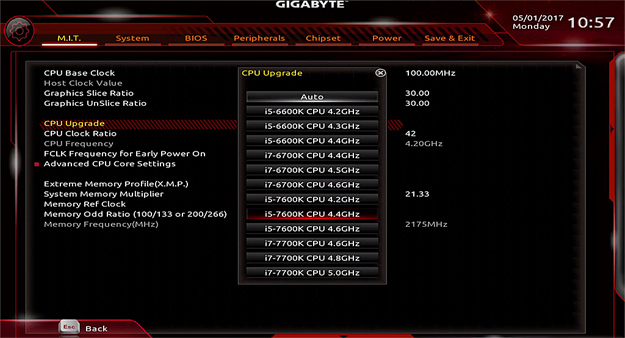 gigabyte Aorus z270x k5 bios