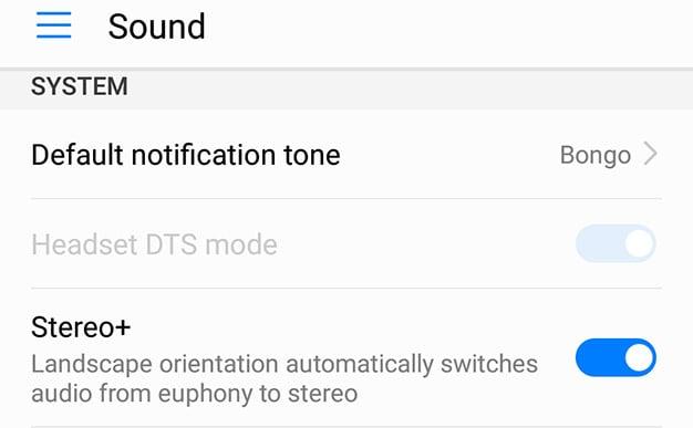 mate 9 stereo setting