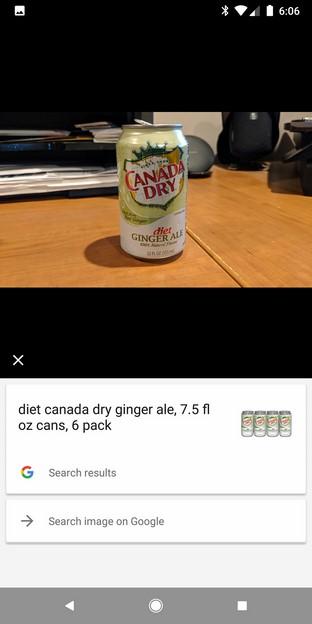 Canada Dry Google Lens