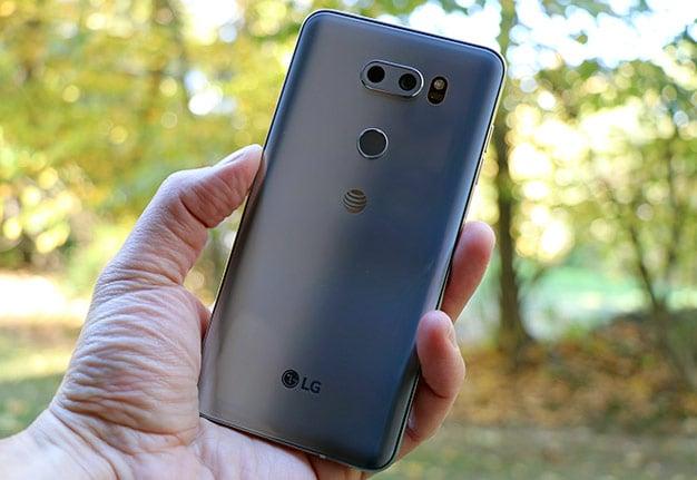 LG V30 Back In Hand