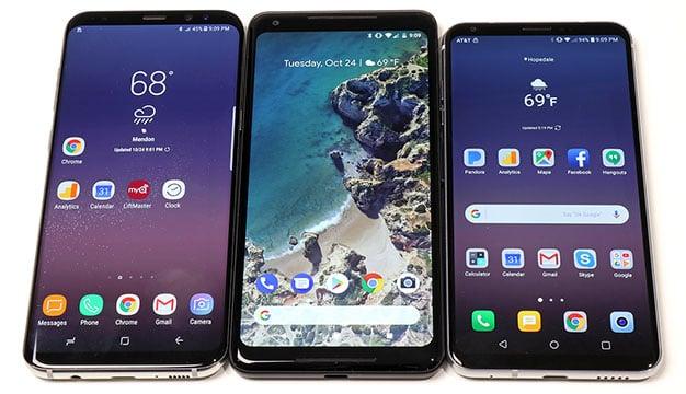LG V30 vs Pixel 2 XL vs Galaxy S8 Plus