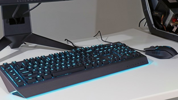 Alienware keyboard lit up