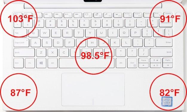 dell xps 13 white heat keyboard