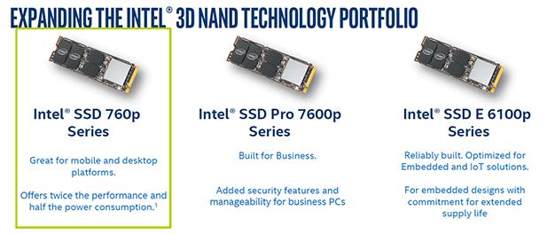 intel 760p ssd line up