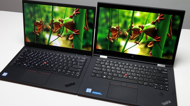 ThinkPad X1 Carbon X1 Yoga side by side compare