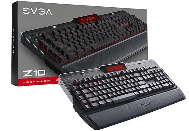 EVGA Z10 Mechanical Gaming Keyboard and Retail box