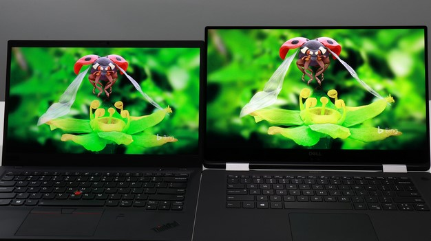 XPS 15 2 in 1 vs X1 Carbon side by side
