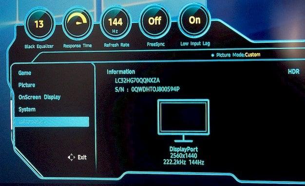samsung chg70 menu 2