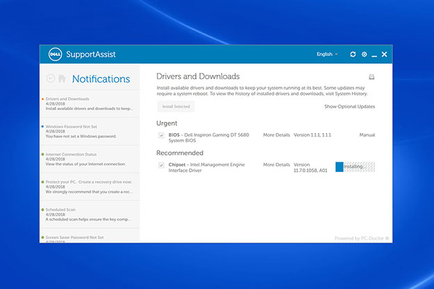 Dell Inspiron Gaming Desktop 5680 SupportAssist