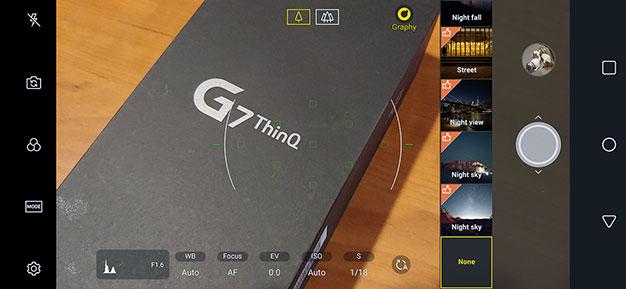 LG G7 ThinQ Manual Camera Mode