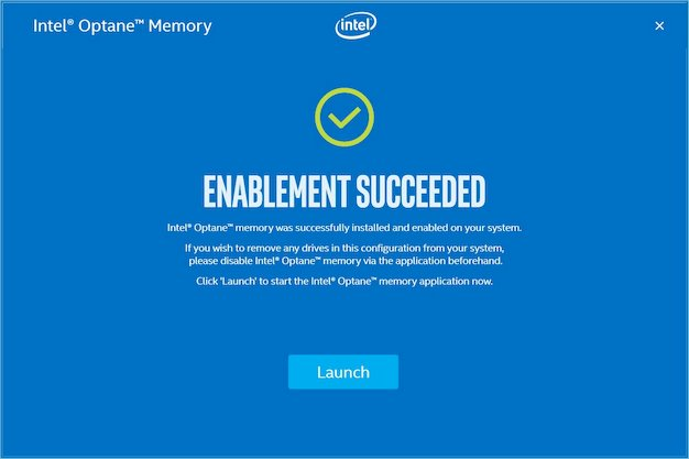 intel optane memory enabled
