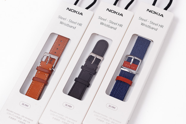 nokia steel hr boxed strap options