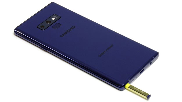 Samsung Galaxy Note 9 back with pen