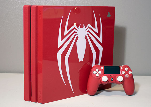 Sony PlayStation 4 Pro 1TB Marvel Spider-Man Angled