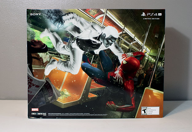Sony PlayStation 4 Pro 1TB Marvel Spider-Man Box
