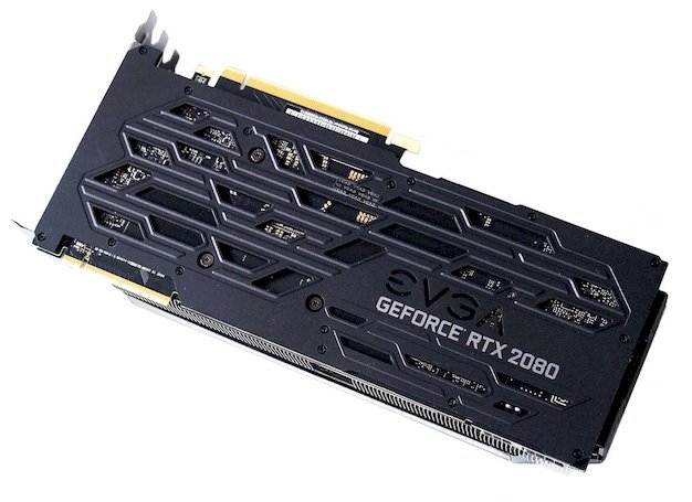 EVGA GeForce RTX 2080 XC back side