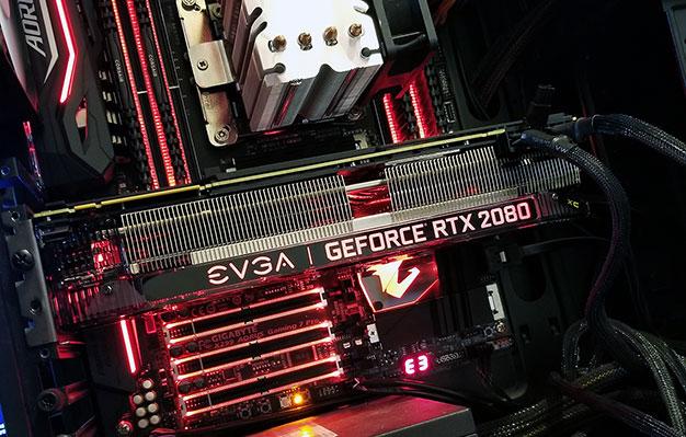 evga geforce rtx 2080 installed