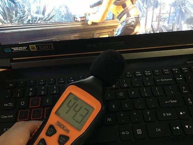 Acer Predator Helios 300 Noise Meter