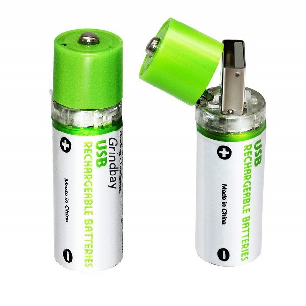 Grindbay Rechargeable AA USB Batteries