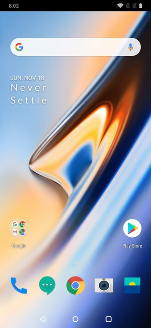 home screen OnePlus 6T