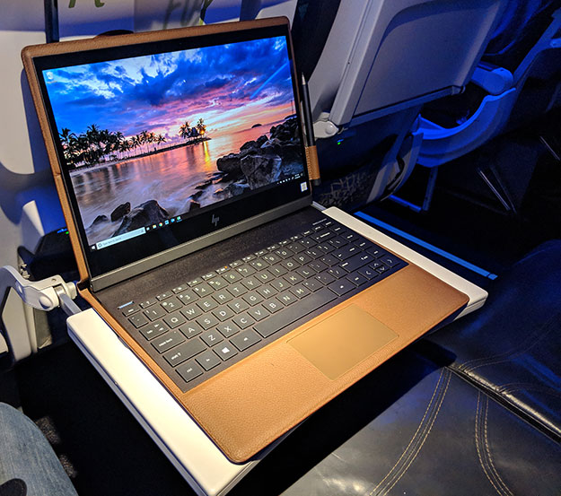 Spectre Folio on plane
