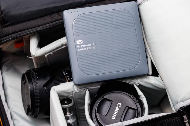 my passport wireless ssd camera bag