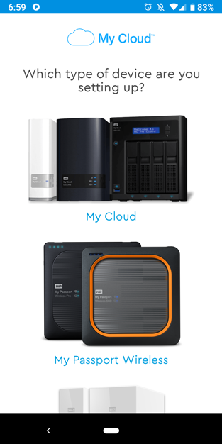 my passport wireless ssd my cloud device selection