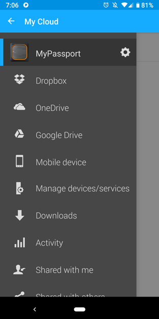 my passport wireless ssd my cloud slide out menu services