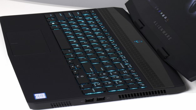 Alienware m15 right edge keyboard