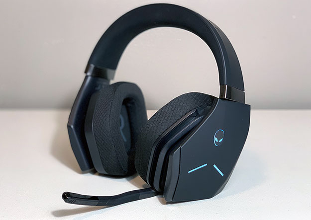 Alienware AW988 Wireless Headset Turned On