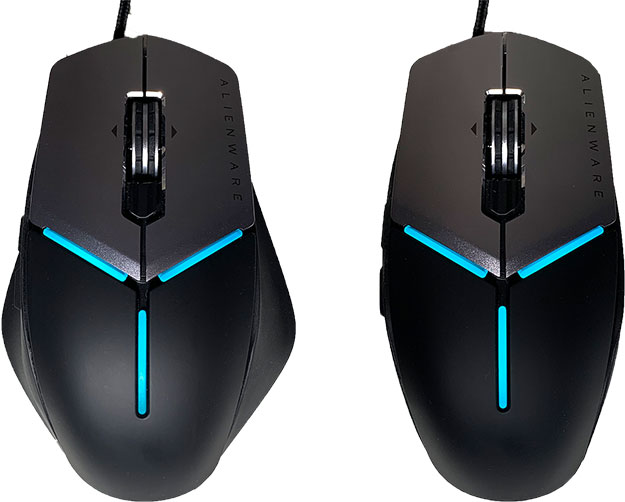 Alienware AW959 Elite Mouse Sizes