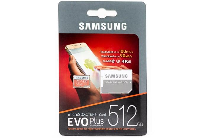 Samsung EVO Plus 512GB MicroSD Card Review: Speedy Device