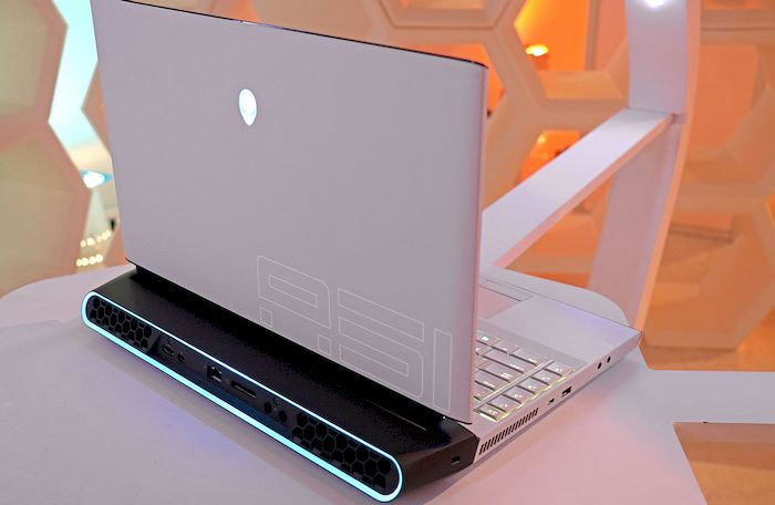 Alienware Area 51m rear vents ports