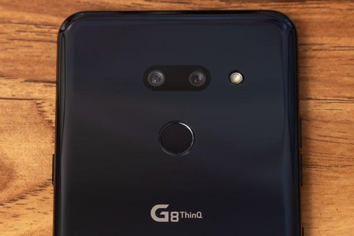lg g8 thinq rear closeup