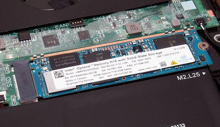 optane memory h10 installed