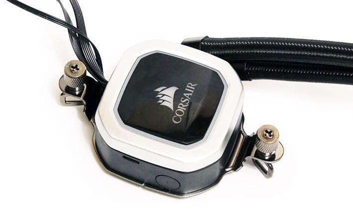 corsair H100i plat rgb top