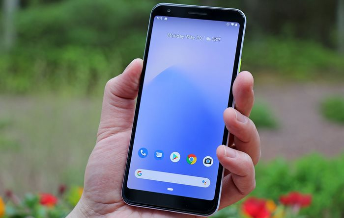 pixel 3a xl front in hand