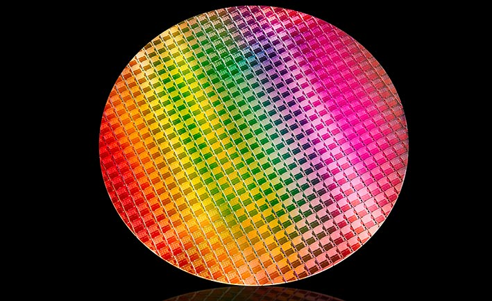 Intel 10th Gen Ice Lake Chip Wafer