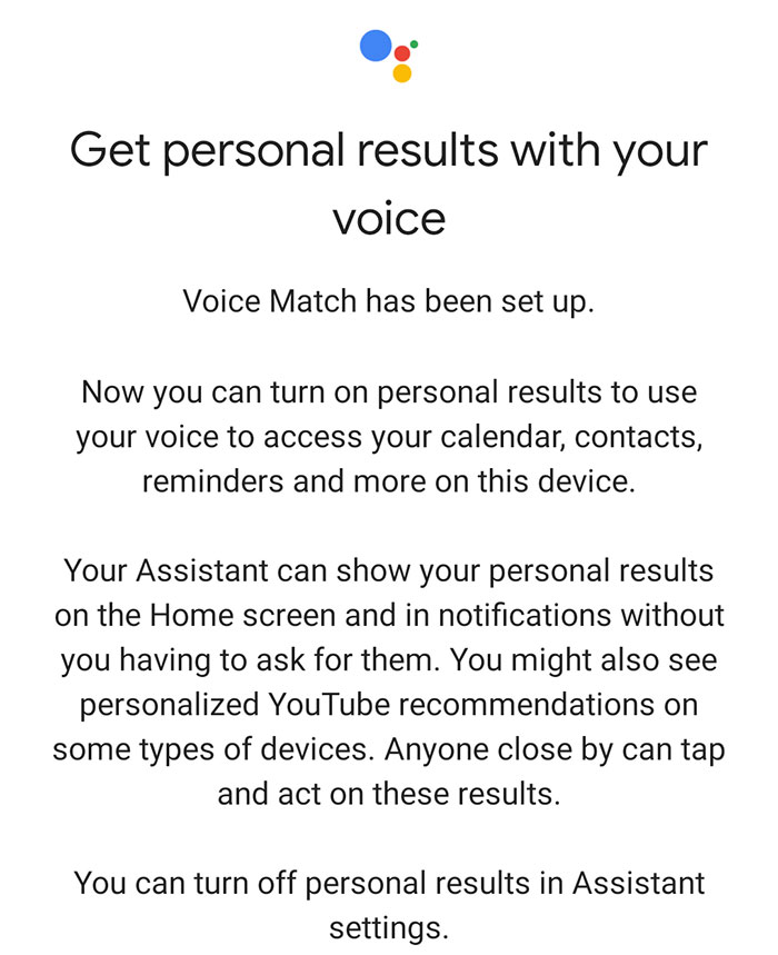 lenovo smart clock google assistant personal results