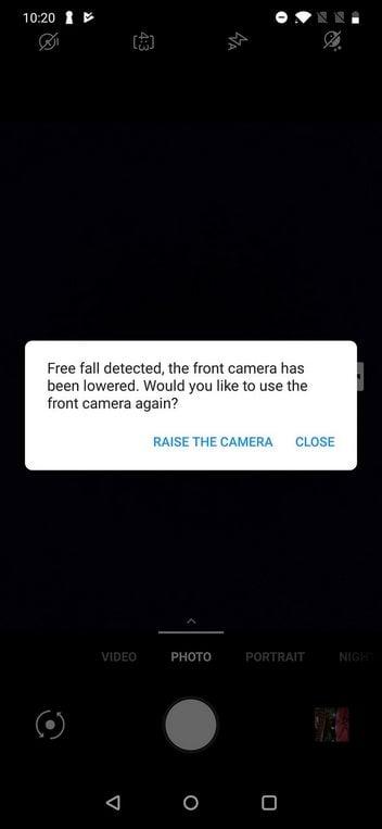 OnePlus 7 Pro free fall detection selfie camera