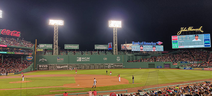 fenway park red sox game oneplus 7 pro night shot