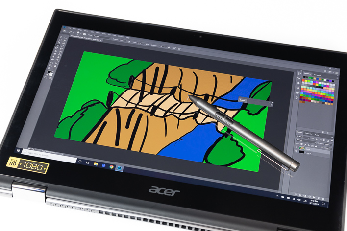acer spin 5 active stylus drawing