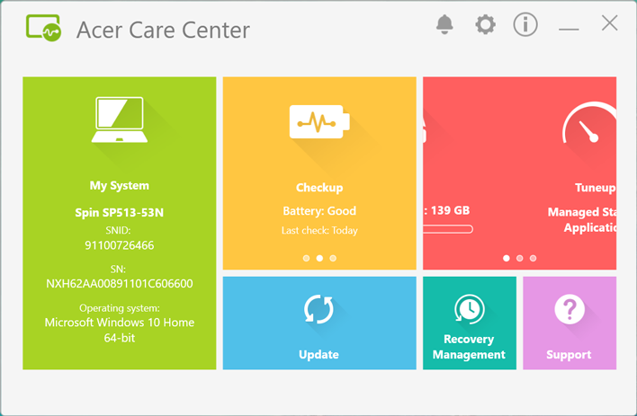 acer spin 5 care center