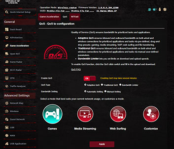 ASUS ROG Rapture GT-AX11000 Game Boost