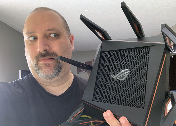 ASUS ROG Rapture GT-AX11000 In Hand