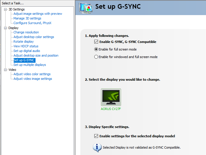 g sync settings