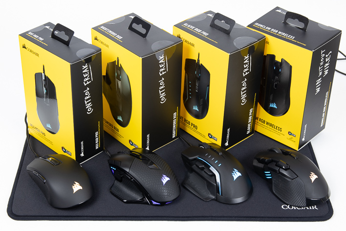 Corsair RGB Gaming Mouse Round-Up: M55, Glaive Pro, Nightsword