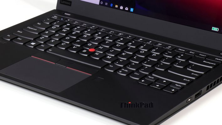 ThinkPad X1 Carbon keyboard logo